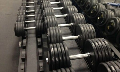 dumbells in various weights at powerflex gyms