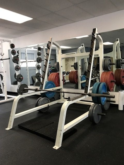 squat rack with weights at albuquerque nm gym