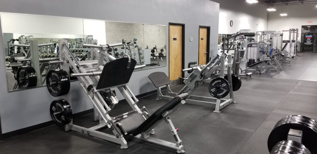 fitness equipment at ventana gym for leg workout