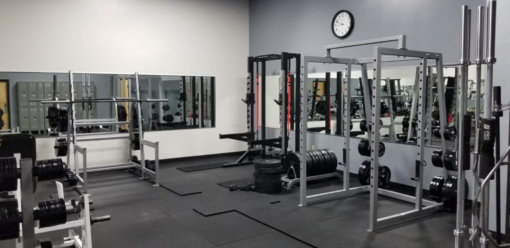 rack area for workout at powerflex gym ventana